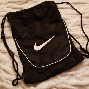Nike Black with White Details String Bag